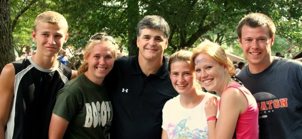 Family photo of the tv-personality, married to Jill Hannity , famous for Let Freedom Ring & Deliver Us from Evil.