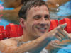 United States' Ryan Lochte reacts after finishing first in the men's 400-meter individual medley swimming final at the Aquatics Centre in the Olympic Park during the 2012 Summer Olympics in London, Saturday, July 28, 2012. (AP Photo/Daniel Ochoa De Olza)